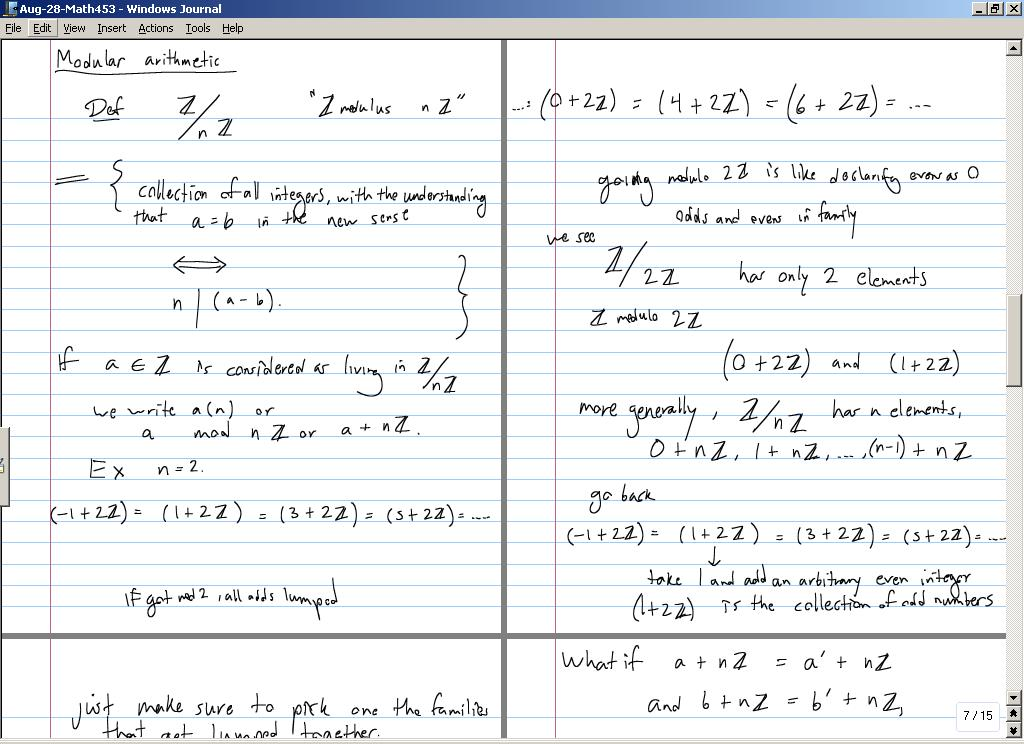 abstract algebra notes Music and mathematics  while it is possible to construct equal temperament scale with any number of notes  some theorists have used abstract algebra to analyze.